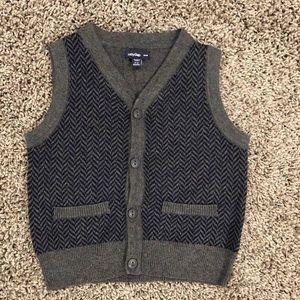 GAP boys button sweater vest, size 6-12 months